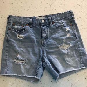 Madewell High Waist Distressed Shorts Size 29